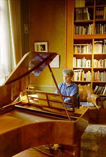 Christopher Seed practising on his Left-Handed Piano